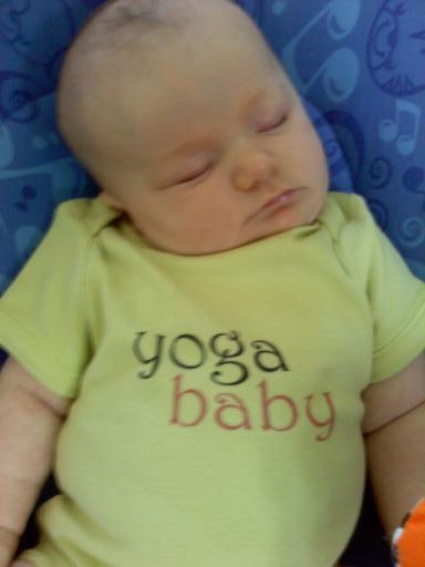 YogaBaby at 8 weeks